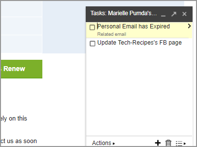Gmail Choose Email More Add to Tasks Done