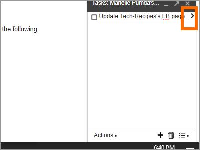 Gmail Menu Google Task Edit Task Details