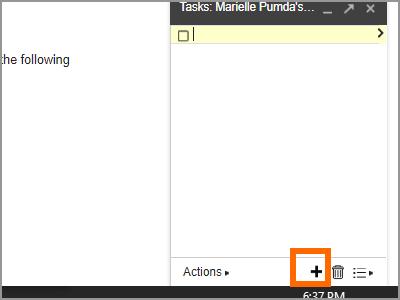 Gmail Menu Google Task add a task