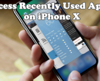 How to Access Recently Used Apps on iPhone X