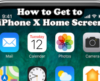 How to Get to iPhone X Home screen