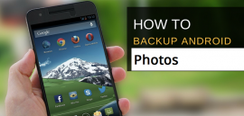 backup photos on android