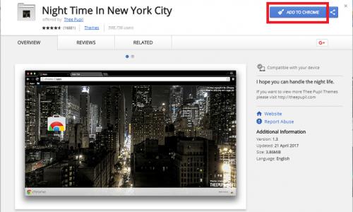 change google chrome background