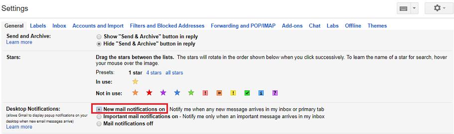 enable gmail desktop notification