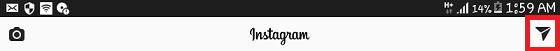 dm on instagram