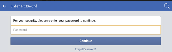 deactivate facebook acount