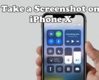 Take a screenshot on iPhone X
