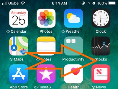 iPhone Home Swipe Right