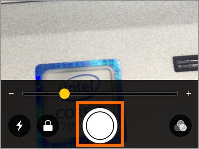 iPhone Magnifier Capture Freeze