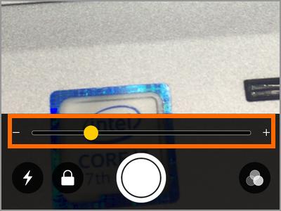 iPhone Magnifier Slider