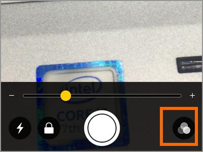iPhone Magnifier adjustment filter