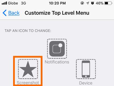 iPhone Settings Top Level Menu with Screenshot