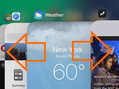 iPhone X App Switcher Swipe Left or Right