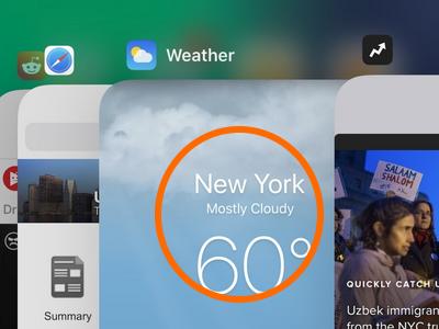 iPhone X App Switcher Tap App