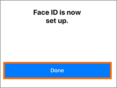 iPhone X Face ID and Passcode Setup Face ID Done