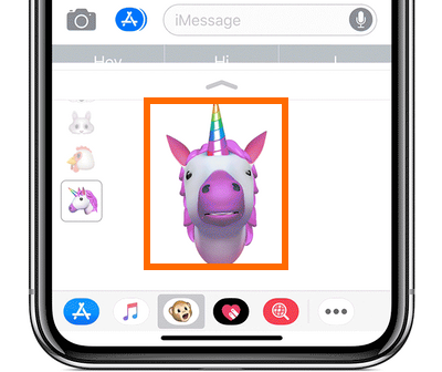 iPhone X Message App Animoji Follows user