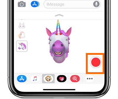 iPhone X Message App Animoji Record