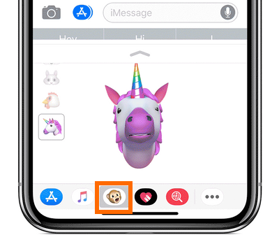 iPhone X Message App Animoji icon