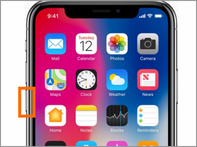 iPhone X Volume Down Button