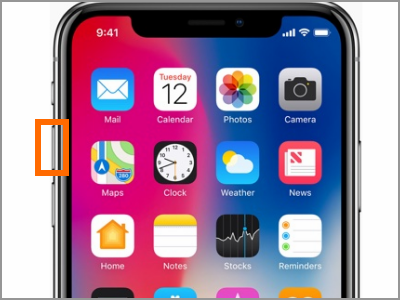 iPhone X Volume Up Button