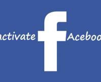 deactivate facebook acount