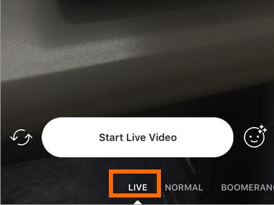 instagram how to do live stream