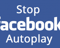 stop facebook from autoplay