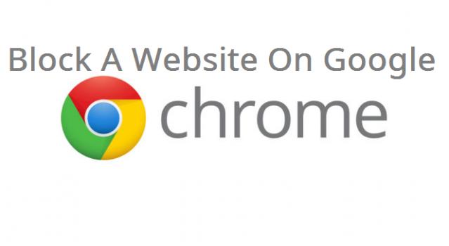 block a website on google chrome