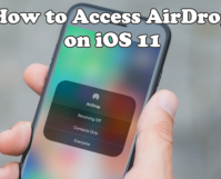 Access AirDrop on iOS 11