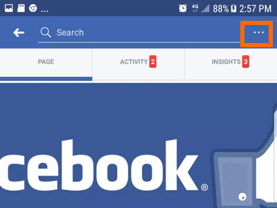 Android Facebook Settings Pages Choose Page More options