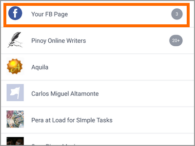 Android Facebook Settings Pages Choose Page