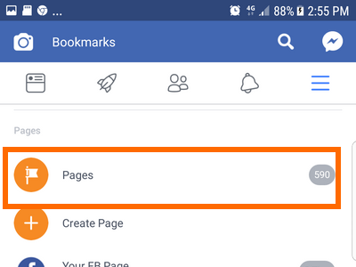 Android Facebook Settings Pages