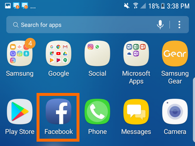 Android Facebook icon