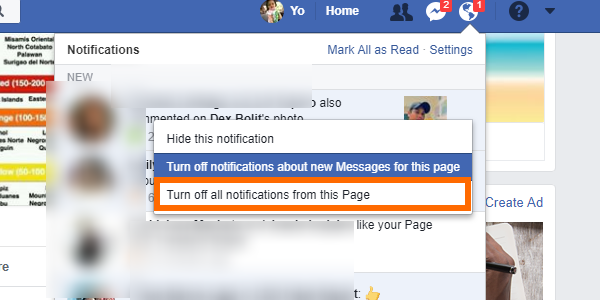 Facebook Notifications More Options Turn Off Notifications