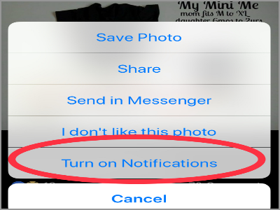 Facebook Post 1 Menu Turn On Notifications