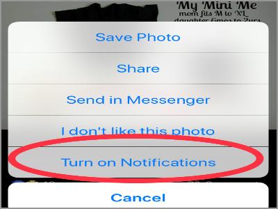 Facebook Post 1 Menu Turn On Notifications