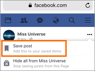 Facebook Search Posts Save Post