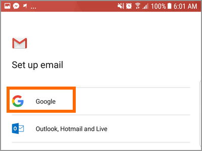 Gmail app account add account Gmail