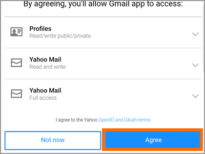 Gmail app account add account other email Permissions
