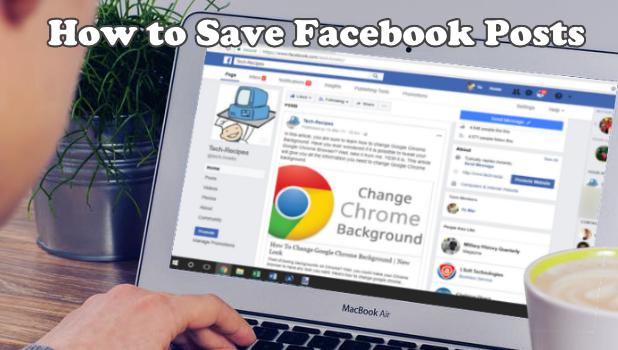 Save Facebook posts