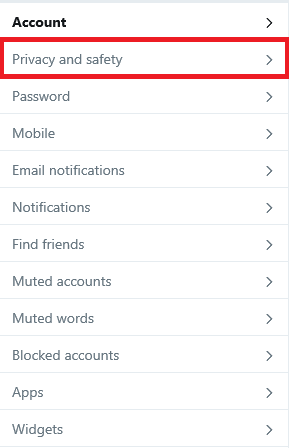 make twitter account private
