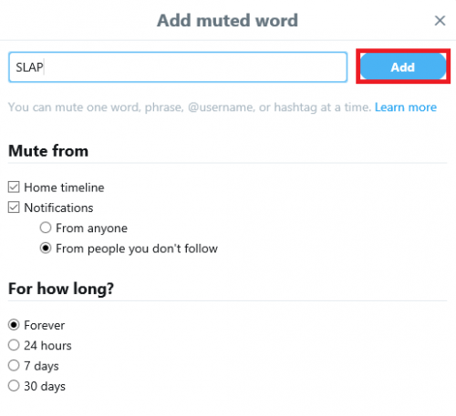 mute words on twitter