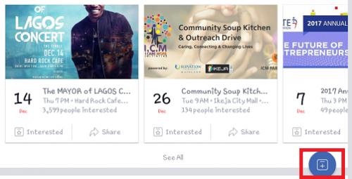 create facebook event