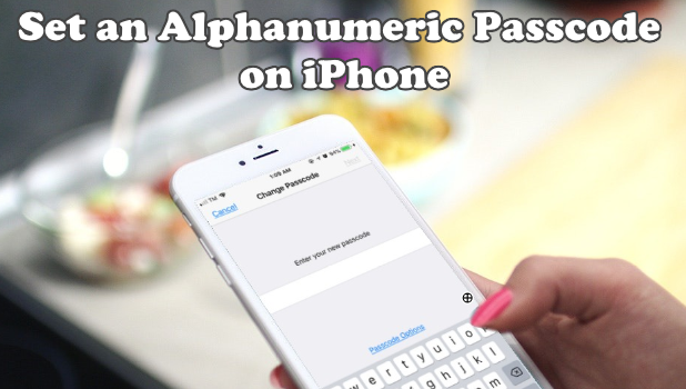 Set an Alphanumeric Passcode on iPhone