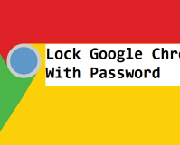 lock google chrome with password