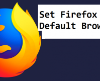 set firefox as default browser