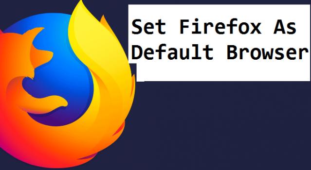 set firefox as default browser