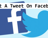 post a tweet to Facebook