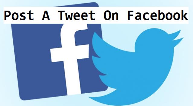 post a tweet to Facebook