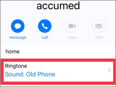 iPhone Home Contacts Ring Tone Customized DONE